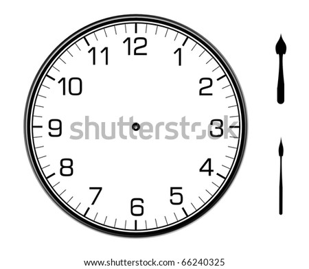 classic wall clock on the wall - stock photo