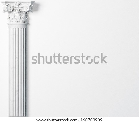 classic wall with antique column. Space for your text