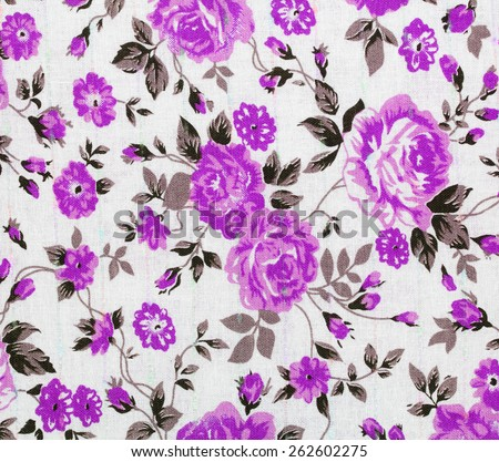 classic wallpaper seamless vintage flower pattern - stock photo