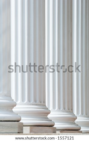 Classic white columns suitable for use as a background