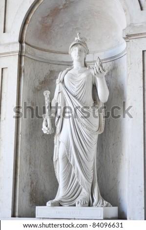 Classic white statue - stock photo