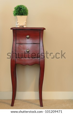 Classic wooden dresser. - stock photo