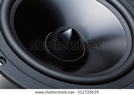 classic woofer speaker  background detail - stock photo