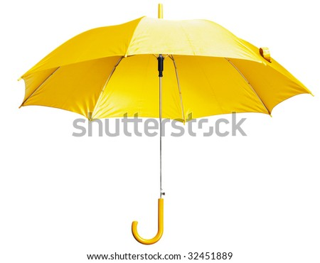 Classic Yellow Umbrella - stock photo