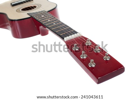 classical acoustic guitar isolated on a white