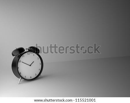 classical alarm clock  on a gray background