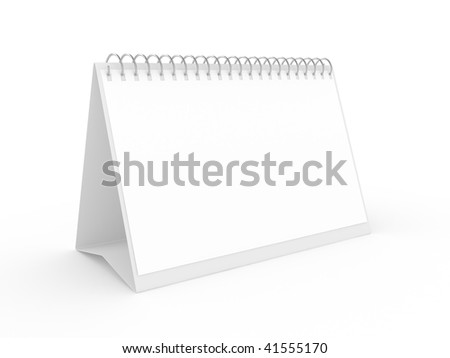 Classical appointment desk calendar on a white background