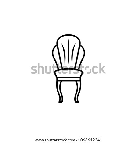Classical Armchair Icon. Element Of Furniture For Mobile Concept And Web  Apps. Thin Line