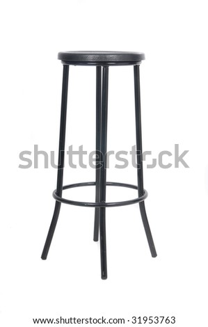 classical bar chair isolated in white
