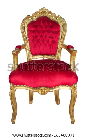 classical  chair  - stock photo