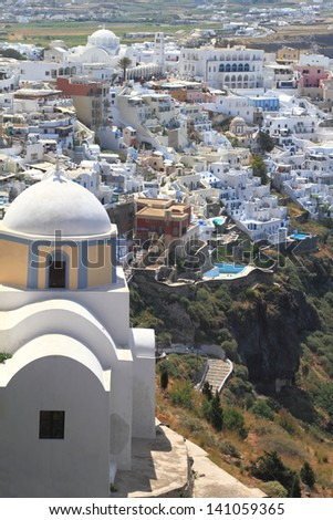 Classical church of Santorini island in Greece