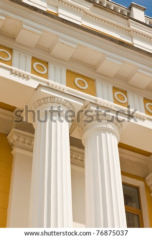 Classical columns of the palace - stock photo