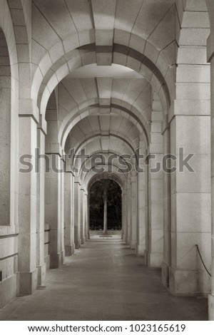 Classical corridor of historical architecture