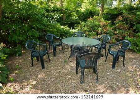 Plastic Garden Furniture Stock Images Royalty Free Images