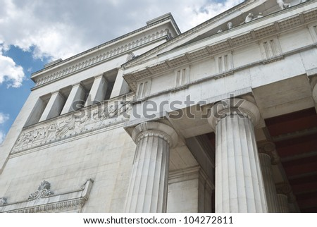 Classical Greek Architecture from a Low Angled View