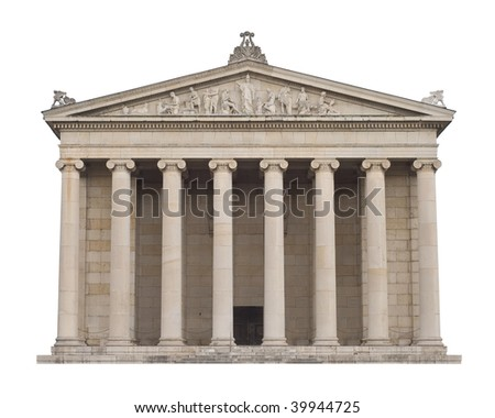 Classical Greek Architecture in the Italian style - stock photo