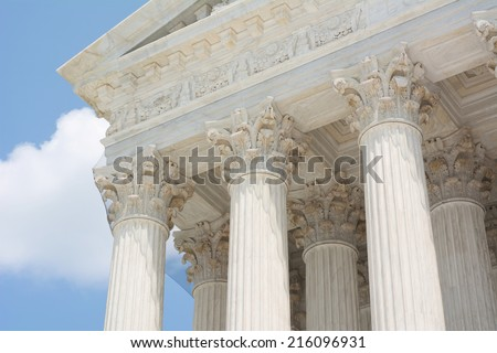 Classical Greek Architecture on the United States Supreme Court - stock photo