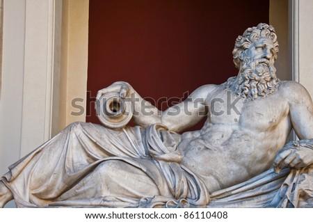 Classical Greek marble sculpture in Vatican - stock photo