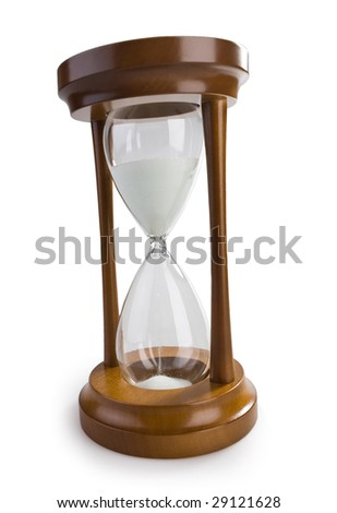 classical hourglass isolated on white - stock photo