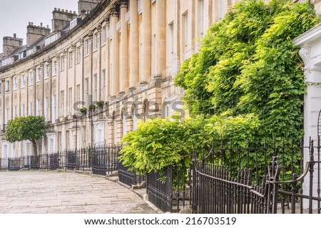 Classical houses of Bath in Somerset England - stock photo