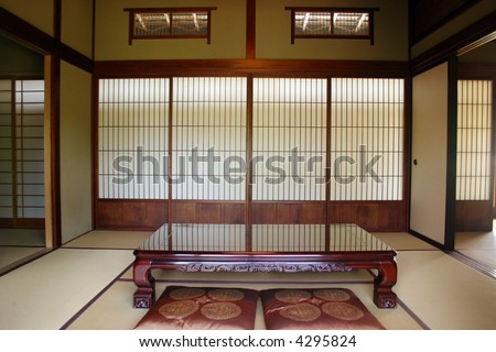 Classical Japanese Dining Room Dinner Table Stock Photo (Edit Now ...