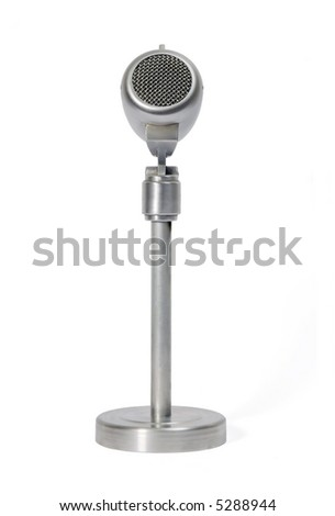 Classical metal microphone with base