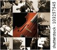 classical music collage - stock photo