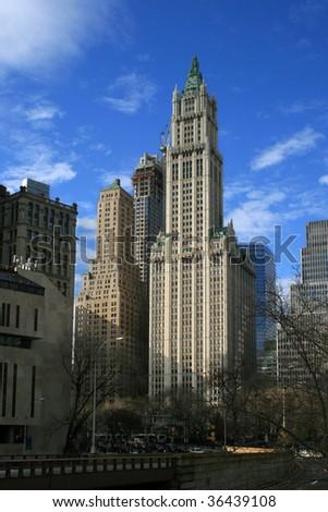 classical New York city, Manhattan - stock photo