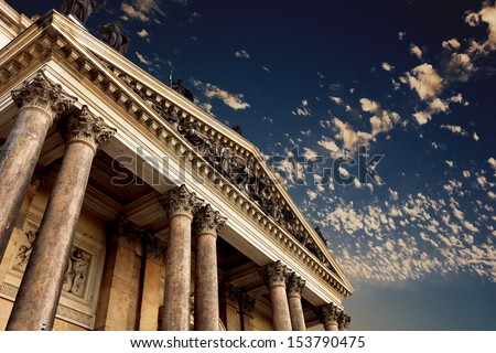 classical pillar, Greek architecture - stock photo