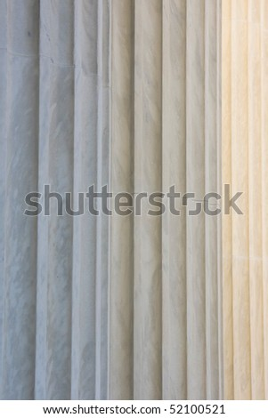 Classical pillars detail - stock photo