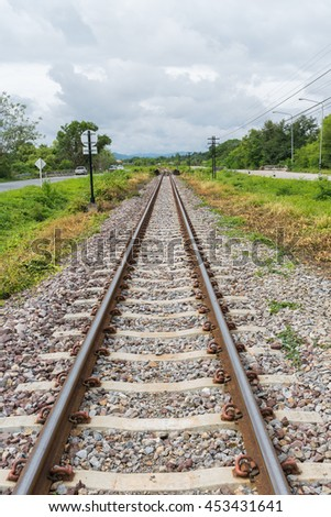 Classical railway track in Thailand