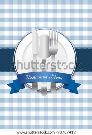Classical restaurant menu design - stock photo