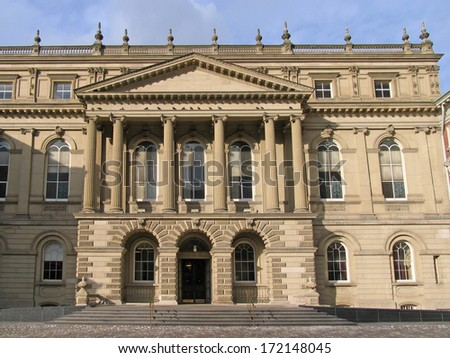 classical style court house, Osgoode Hall, Toronto - stock photo