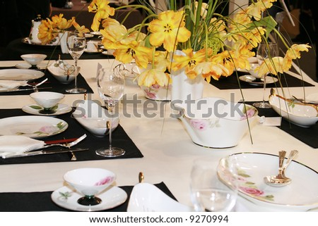 Classical table setting