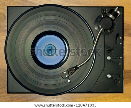 Classical turntable - stock photo