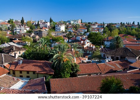 Classical view at the old part of Antalya, Turkey - stock photo
