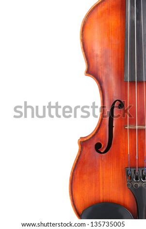 Classical violin isolated on white