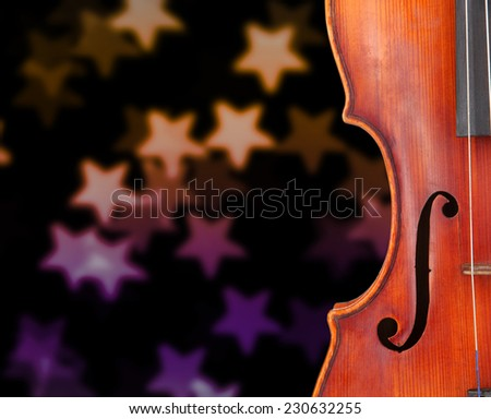 Classical violin on bright background - stock photo