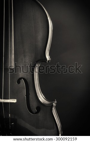 Classical violin on dark background - stock photo