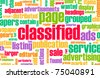 Classified Ads for Buy and Sell Services - stock photo