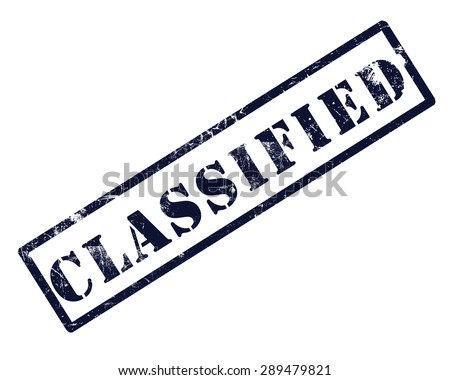 Classified blue stamp text - stock photo
