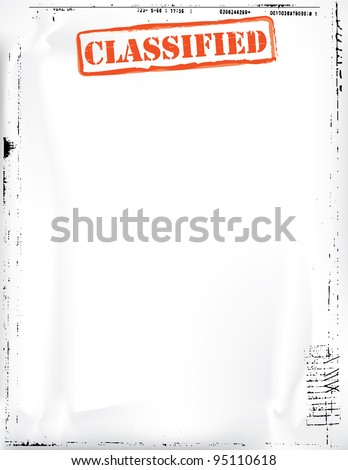 Classified Document Template - stock photo