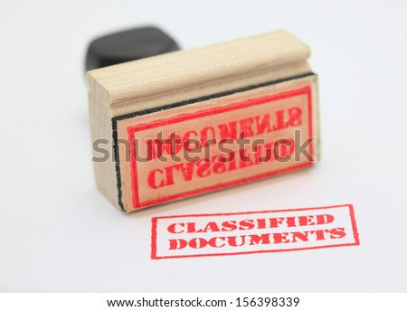 Classified Documents Stamp - stock photo