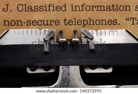 Classified information form