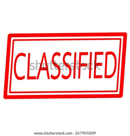 Classified red stamp text on white - stock photo