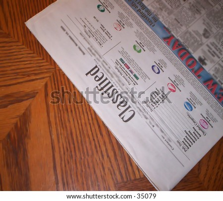 Classified section - stock photo