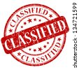 classified stamp - stock photo