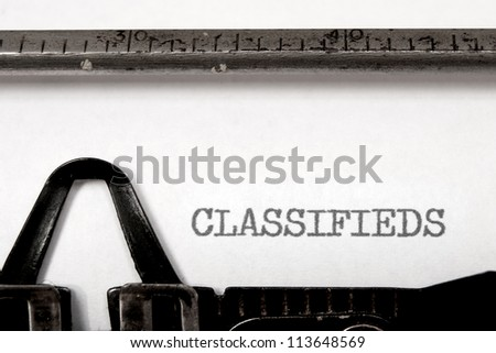 Classifieds - stock photo