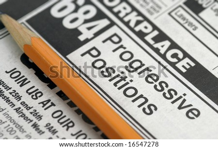 Classifieds - Job search and job offerings - stock photo