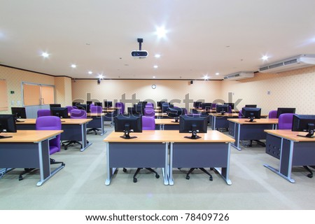 Classroom computers - stock photo